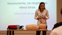 La Dra. Kop en el curso sobre el uso del DESA